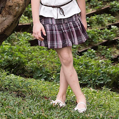PIPPY 格子布花褲裙 紅