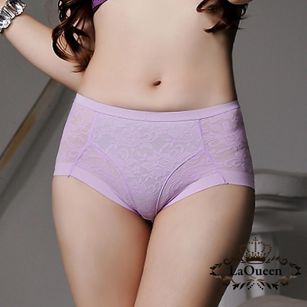 塑褲  美形緹花三角塑褲-紫 La Queen