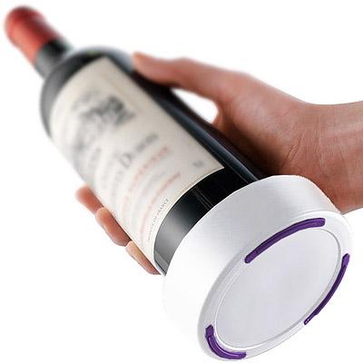 VACU VIN 不滴漏酒瓶墊(紫白)