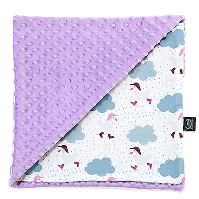 La Millou 單面巧柔豆豆毯嬰兒毯寶寶被毯 雨點達達鴨(粉紫馬卡龍)