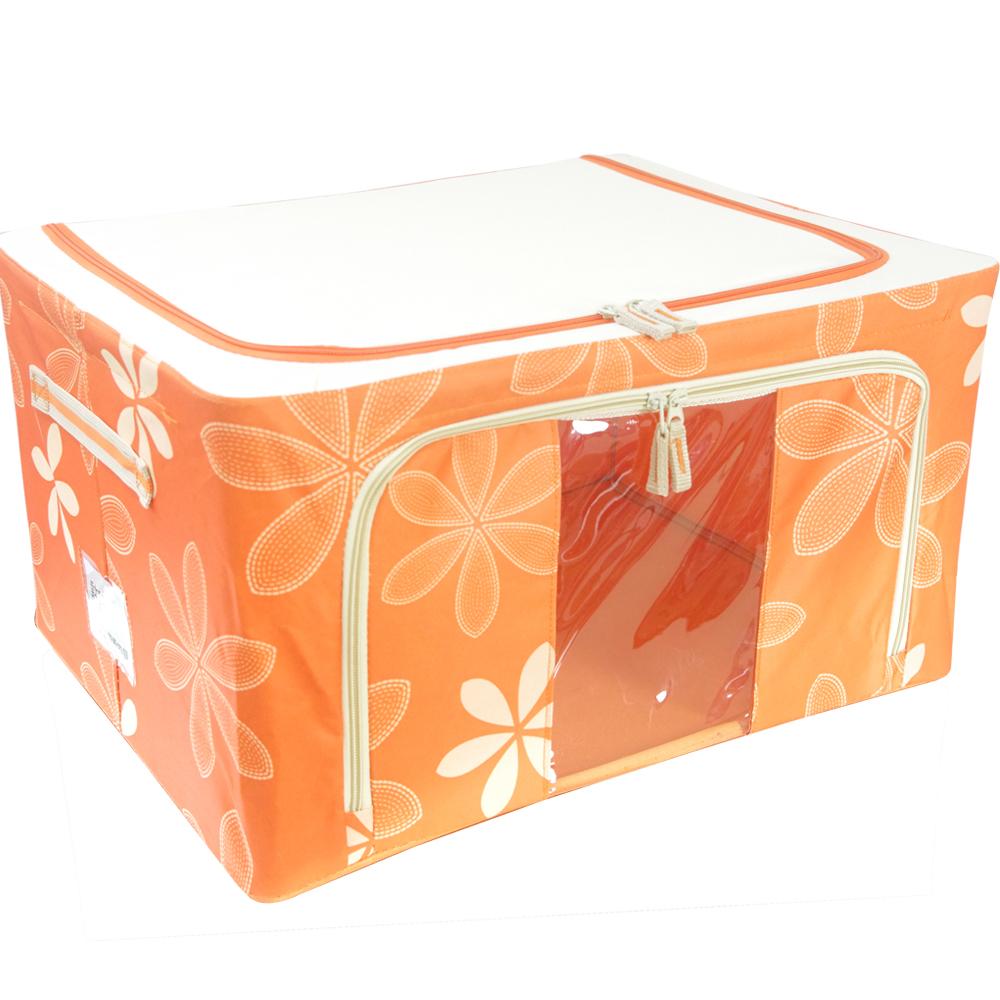【So Easy】太陽花韓式收納箱56公升(鮮果橙一入)