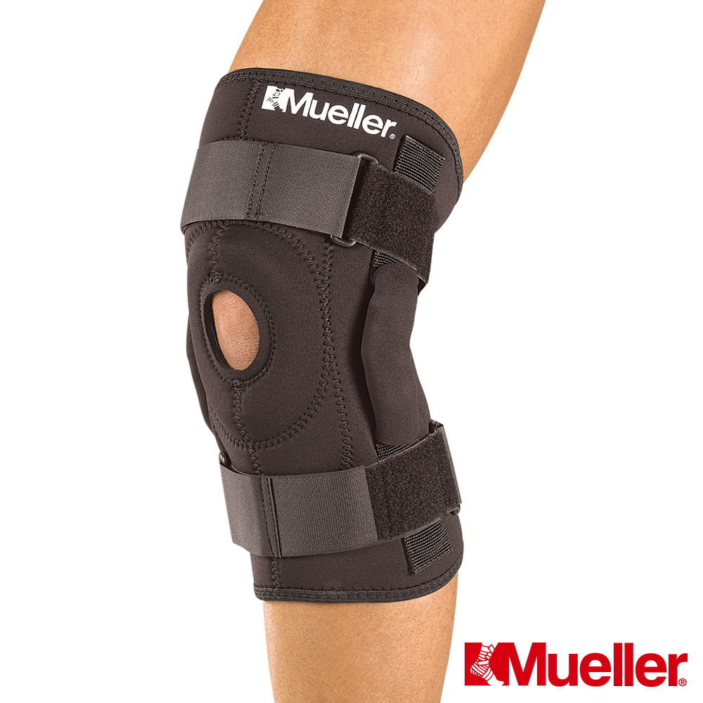 MUELLER慕樂 樞紐式膝關節護具 黑色(MUA2333)