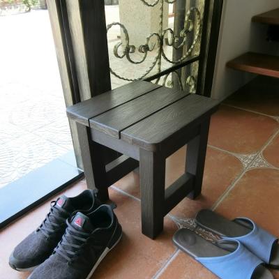 Amos-大和日式塑木防水防潮浴椅-小-