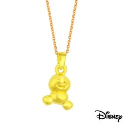Disney迪士尼金飾 TSUM小雪寶黃金墜子 送項鍊