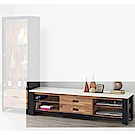 H&D 雙色積層木6尺長櫃 (寬180X深40.5X高47cm)