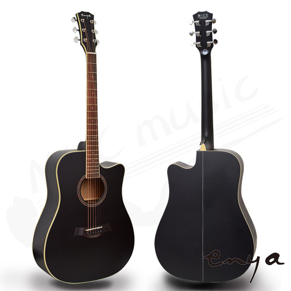 enya 41吋 雲杉面板(黑色) 民謠吉他(ED-10NSB)送超值五寶