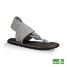SANUK 金屬絲質綁帶涼鞋-女款(金屬灰)