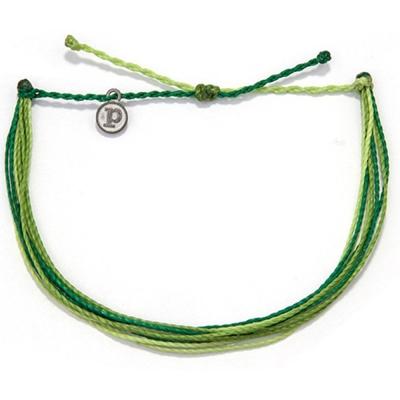 Pura Vida Anklets多圈 素面 臘繩 手鍊腳鍊兩用 草綠
