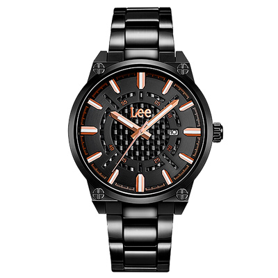 Lee  尖端舞台時尚腕錶-LEF-M 63 DBDB- 1 R/ 42 mm