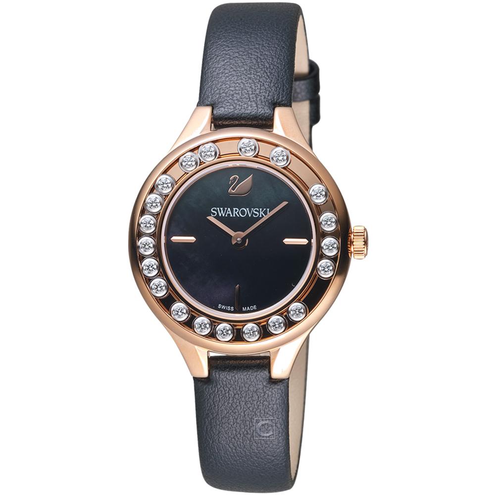 施華洛世奇SWAROVSKI Lovely Crystals Mini飄鑽魅力腕錶-黑色