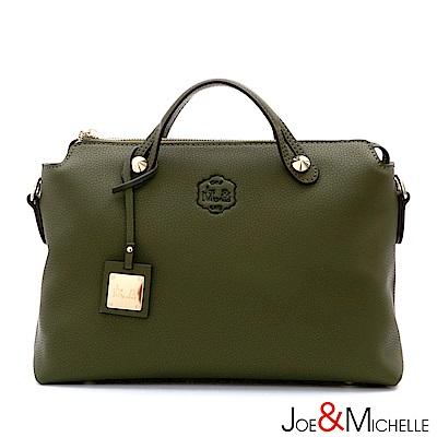 J&M 真皮波士頓吉娜包 橄欖綠