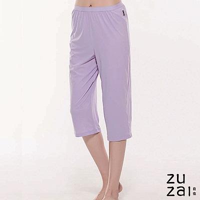 zuzai 自在絲感奇蹟居家六分褲-女-淺紫色