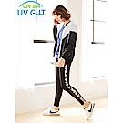 台灣品質.世界同布~抗UV撞色連帽風衣外套-OB大尺碼