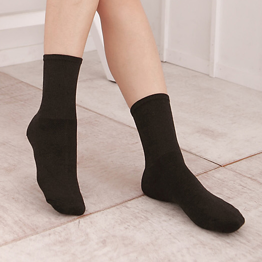 源之氣 極品竹炭寬口運動襪/女 3雙組 RM-30203