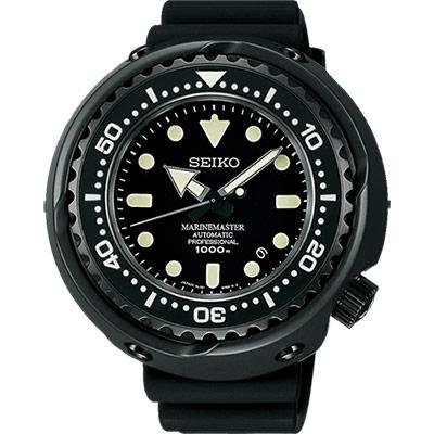 SEIKO PROSPEX 50周年紀念千米潛水機械錶(SBDX013J)-鍍黑/48mm