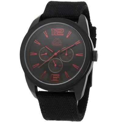 Kappa 耀眼黑潮魅力時尚腕錶-紅/45mm