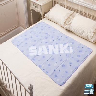 日本SANKi 雪花紫冰涼床墊1床1枕 90x140cm