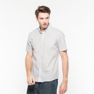 Hang Ten - 男裝 - 防皺都會直條紋襯衫 - 黑