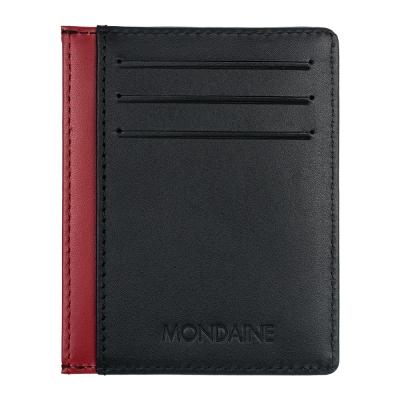 MONDAINE 瑞士國鐵6卡卡片夾-黑x紅