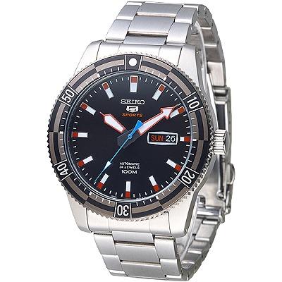 SEIKO-運動潛將百米5號24石自動機械男錶-S