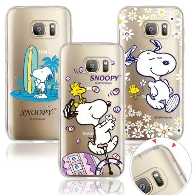 原廠授權 三星 Galaxy S7 史努比奧地利水晶彩繪防摔手機鑽殼
