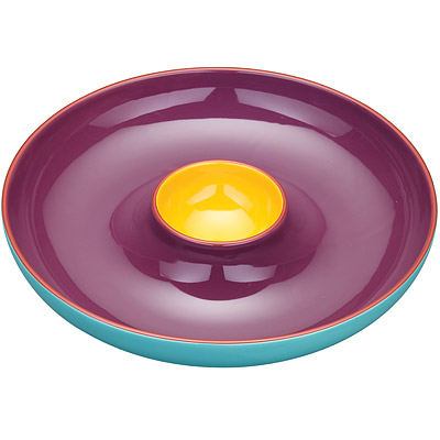 KitchenCraft 雙格醬料點心盤(30cm)