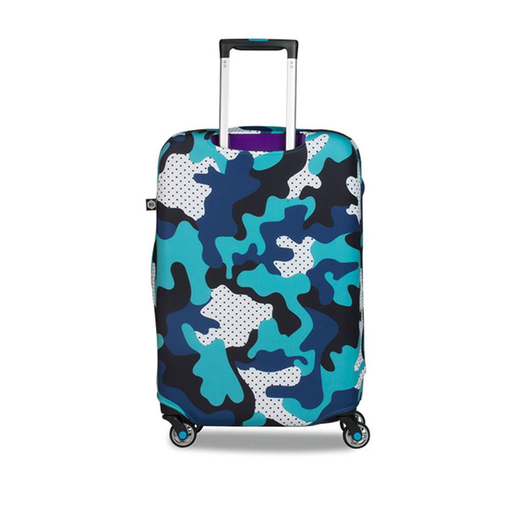BG Berlin 行李箱套-藍迷彩 M (適用22-24吋行李箱)