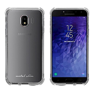 Metal-Slim Samsung Galaxy J4 防摔抗震空壓手機殼