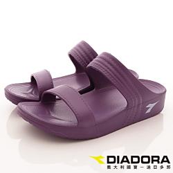 DIADORA-輕量Q彈拖鞋款-SFI267紫(女段)