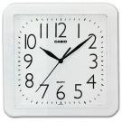CASIO 流線大方指針方形掛鐘(IQ-02S-7)-白/24.5cm
