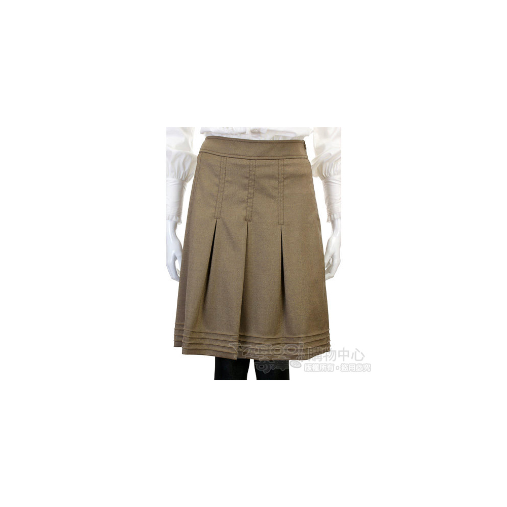 VALENTINO 銅金色及膝百褶裙