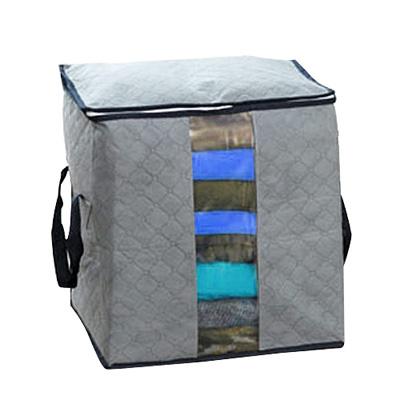 iSFun 竹炭纖維 衣物棉被收納袋43x50x28cm隨機色