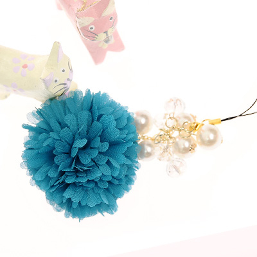 Aimee Toff 喜愛繡球花意亮艷手機吊飾(藍) @ Y!購物