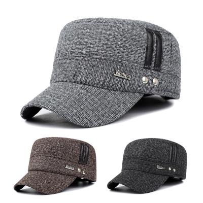 幸福揚邑 護耳平頂帽保暖防風加厚刷毛棒球帽鴨舌帽