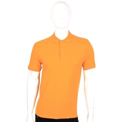 VERSACE 橙色品牌LOGO飾短袖POLO衫