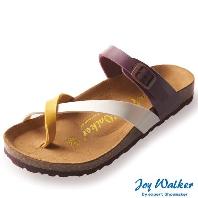 Joy Walker 素面交叉帶夾腳涼鞋* 紫色