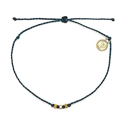 Pura Vida 美國手工 3Bead金玲瓏系列 地中海綠臘線衝浪手鍊手環