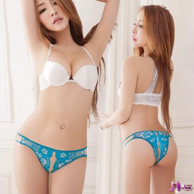 Moira-愛情藍海-花樣刺繡開襠內褲