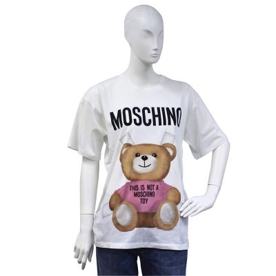 MOSCHINO 小熊玩偶圖案造型寬鬆版短袖T shirt(粉)