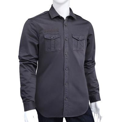 BURBERRY 黑色純棉男性長袖上衣-S/M號