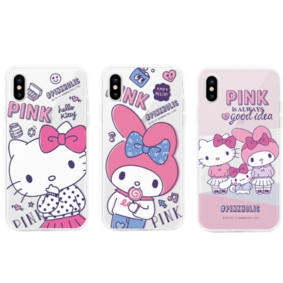 GARMMA Hello Kitty iPhone X 防摔軟殼 粉紅系列