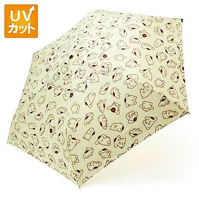 Sanrio 布丁狗大臉造型握柄晴雨二用折疊傘(趣味姿態)