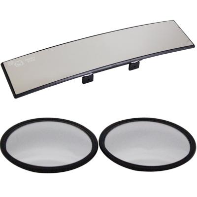 omax廣角鍍鉻曲面後視鏡-1入 超值凸透鏡大圓鏡LY602-2入(1組)