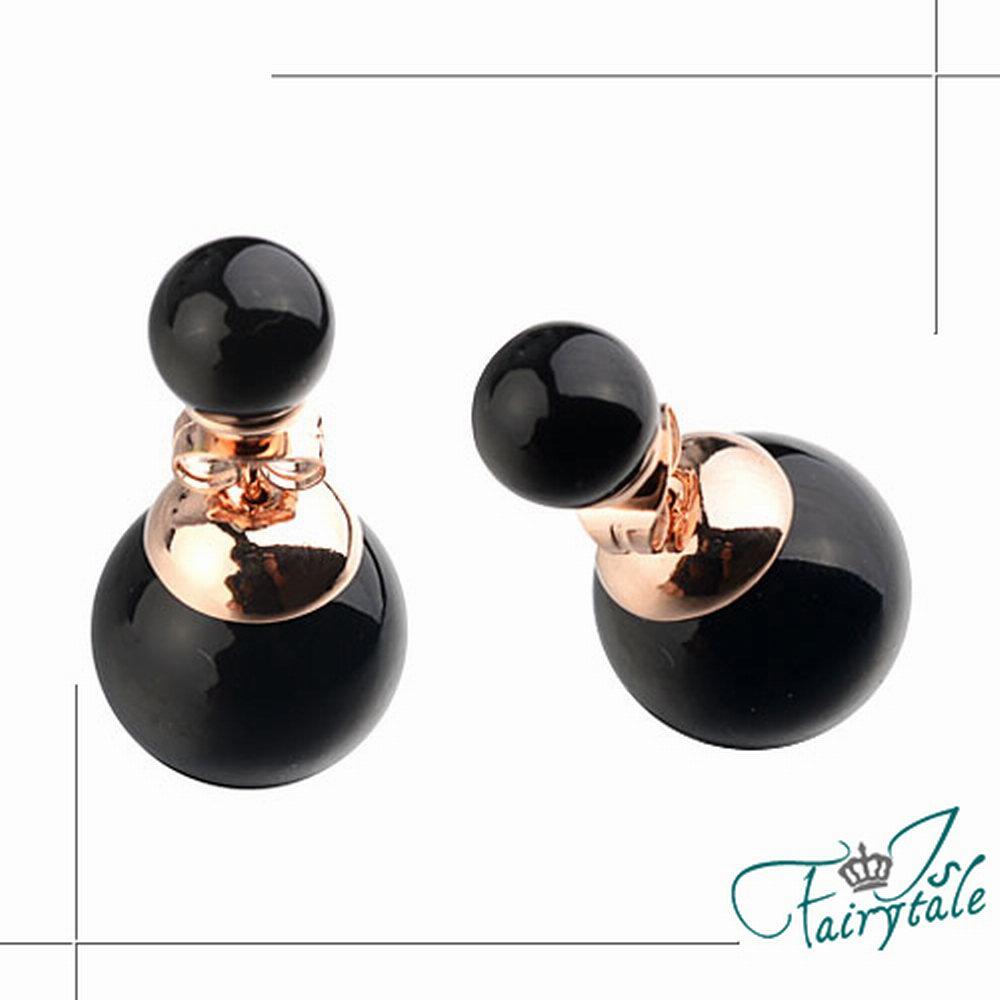 iSFairytale伊飾童話 華麗珍珠 雙面穿搭耳環 三色可選