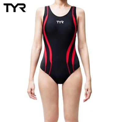 美國TYR Alliance Splice MaxBack 修身款連身泳裝-紅