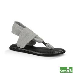 SANUK 素面綁帶人字涼鞋-女款(灰色)SWS10001 GRY