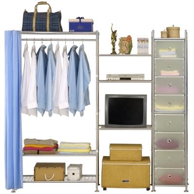 巴塞隆納─W 3 型 90 + 60 +D電視衣櫥置物櫃