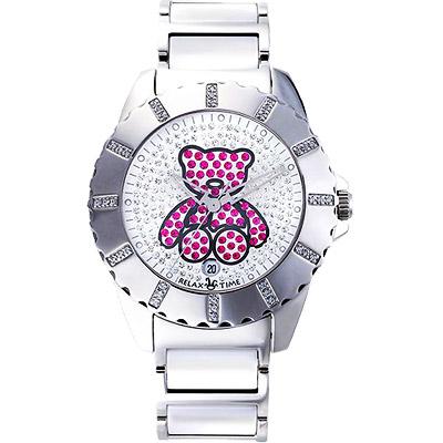 Relax-Time-小熊寶貝晶鑽甜心腕錶
