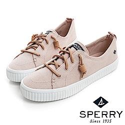 SPERRY 街頭風尚經典帆布帆船鞋(女)-粉