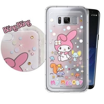 正版美樂蒂 三星 Galaxy S8+ 施華洛世奇 彩鑽氣墊保護殼(泡泡)